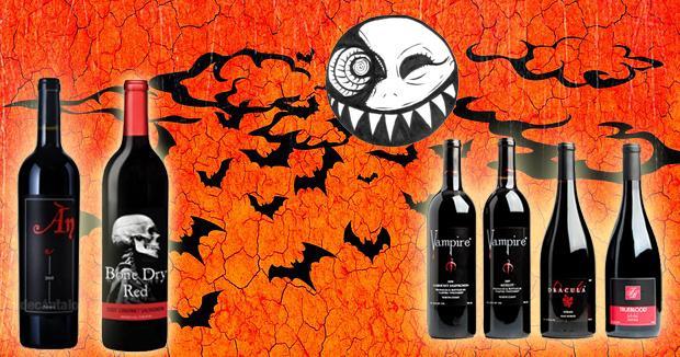 Etiquetas de Vino para Halloween
